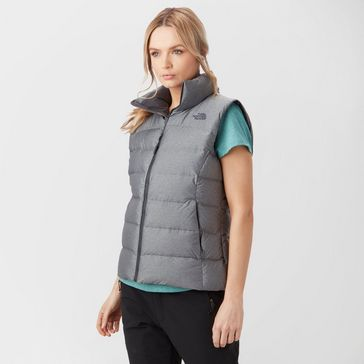 Grey THE NORTH FACE Women s Nuptse Insulated Gilet ... 8759b6d33
