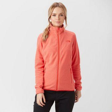 Coral THE NORTH FACE Women s 100 Glacier Fleece Jacket ... 6c0dd7212f