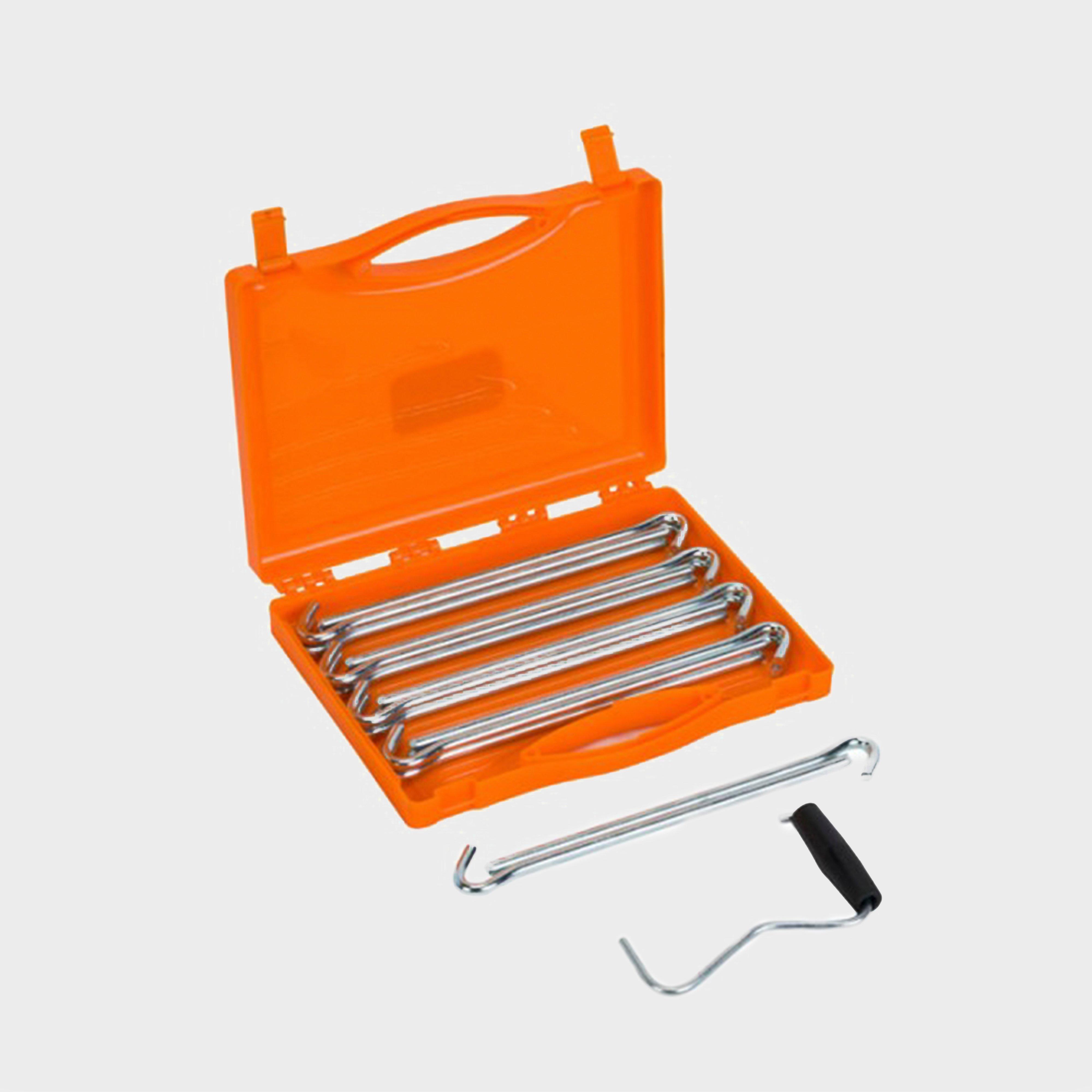 Vango Vango Anchor Steel Peg Set - Silver, Silver
