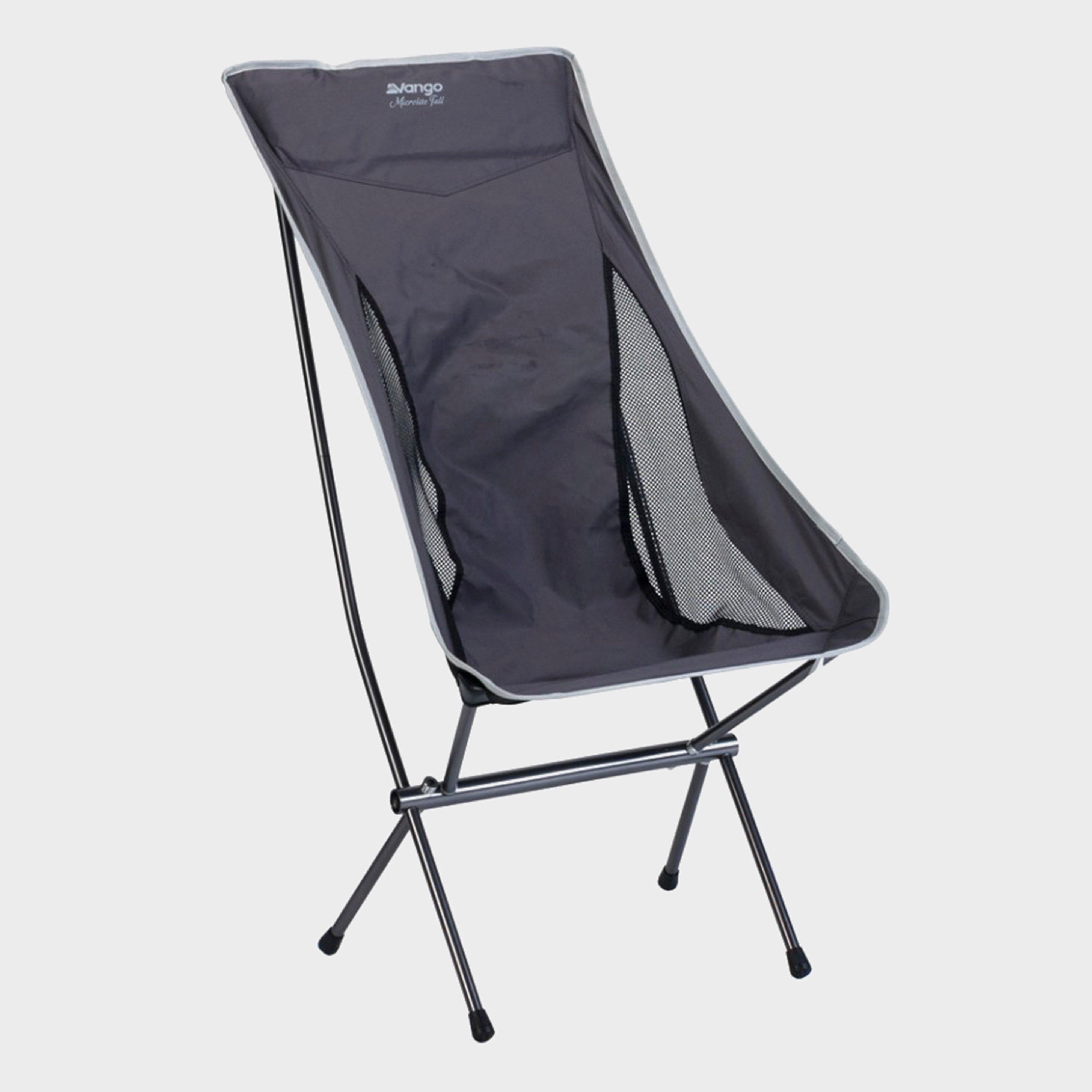 Vango Microlite Tall Chair - Black/Grey, Black/Grey