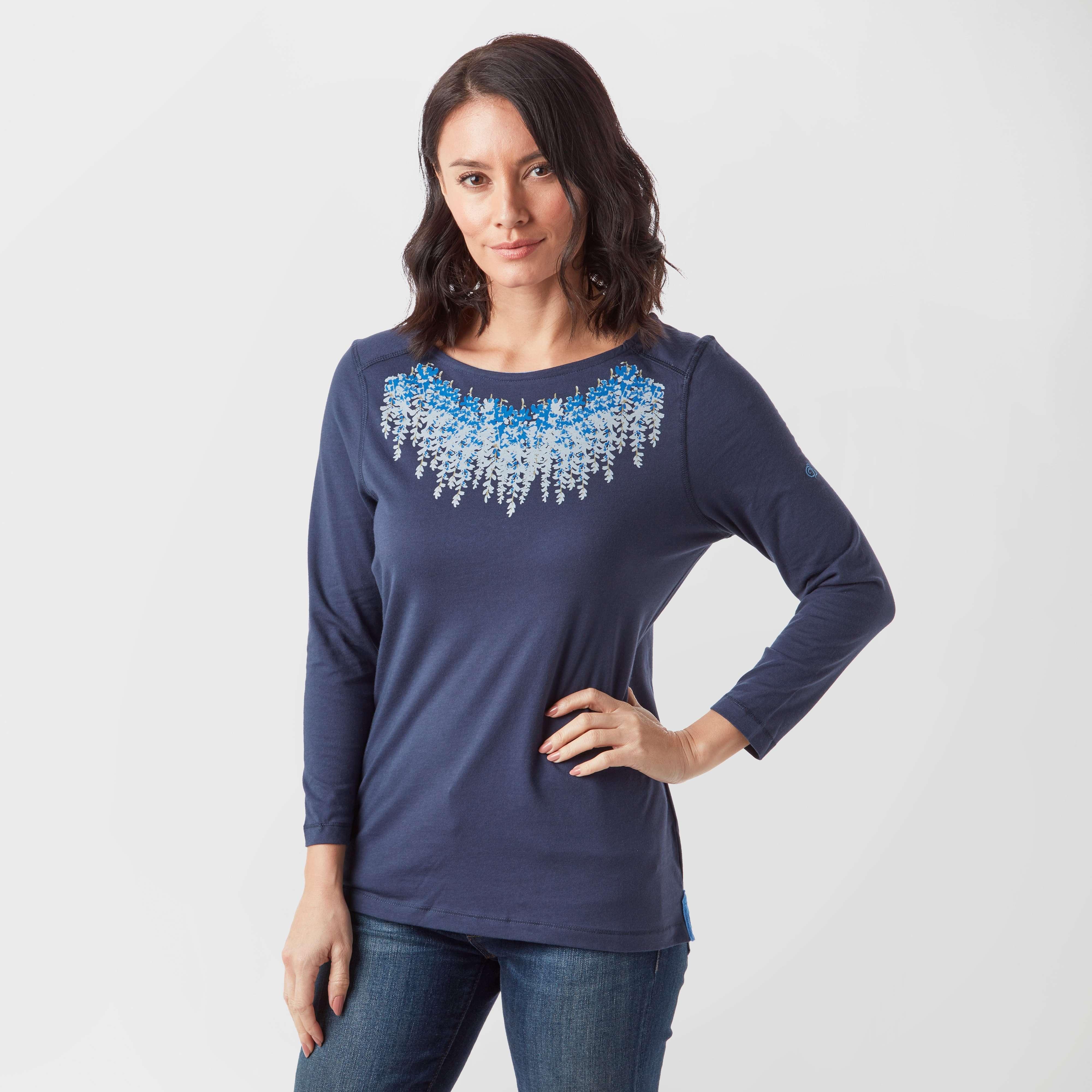 CRAGHOPPERS Women's Westport 3/4 Length Sleeve T-Shirt
