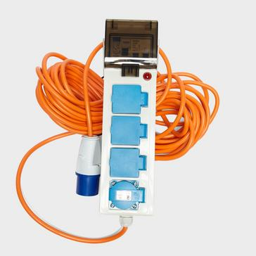 White Eurohike Mobile Mains Deluxe with 2 USB