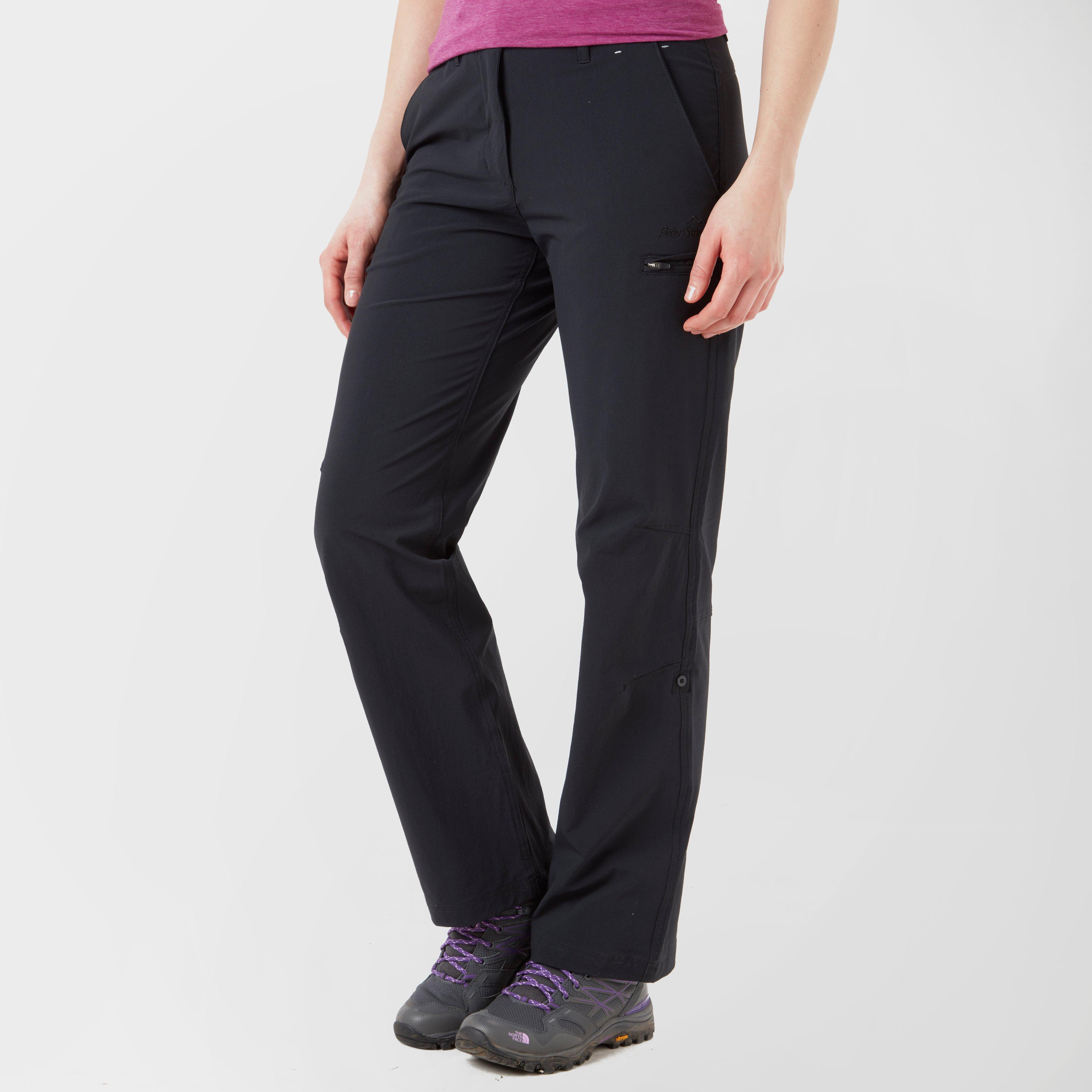 Peter Storm Peter Storm womens Hike Stretch Roll-Up Pant - Black, Black