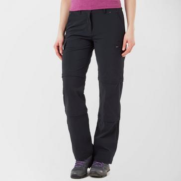 Black Peter Storm Women's Stretch Double Zip Off Walking Trousers