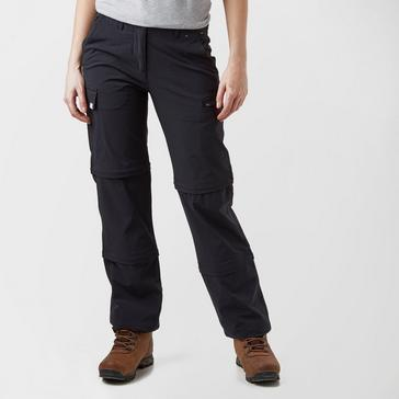 bbc3f2af Black PETER STORM Women's Stretch Double Zip Off Trousers