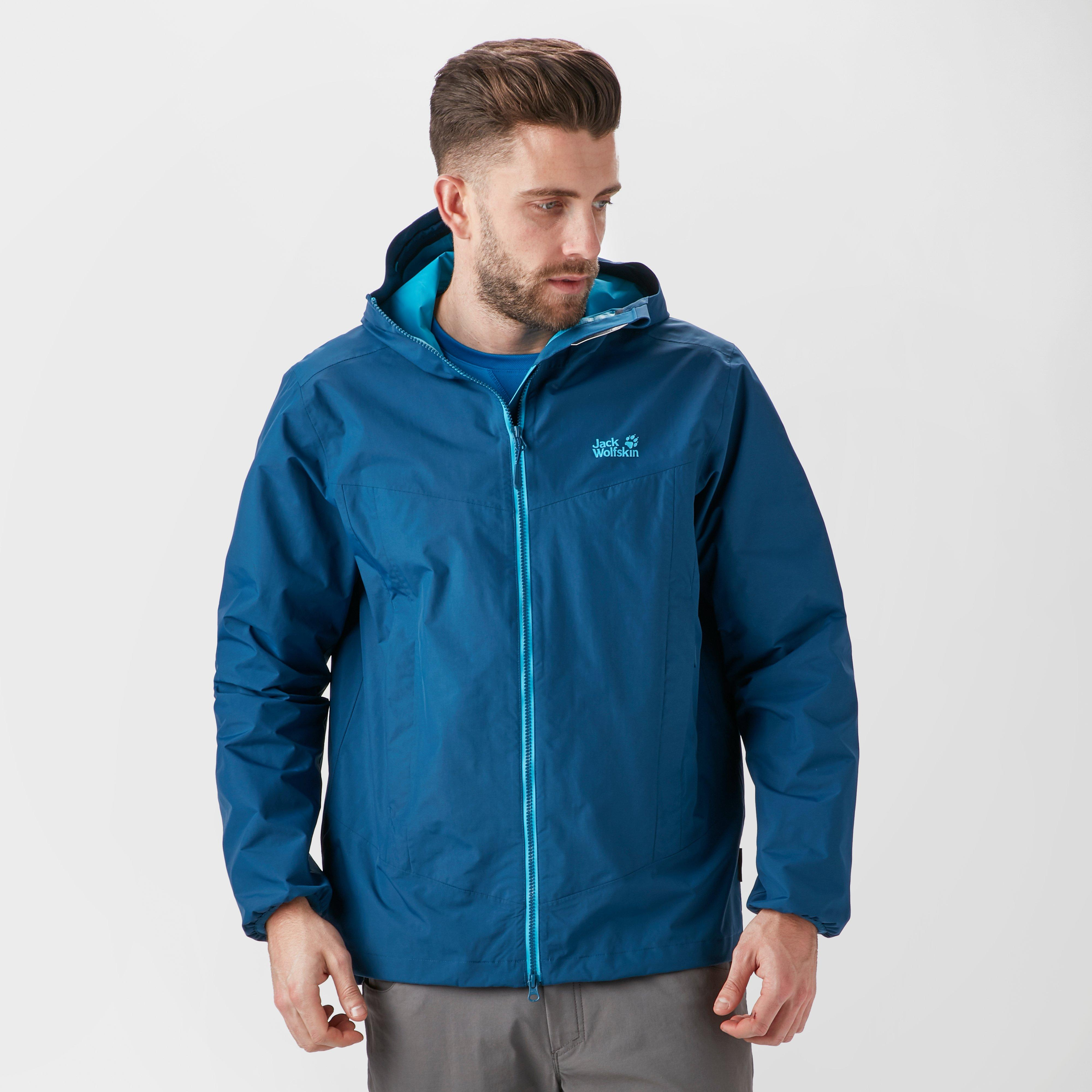 60b1ded0fde Jack Wolfskin Men's Colourburst Jacket, Blue - Mirror Online