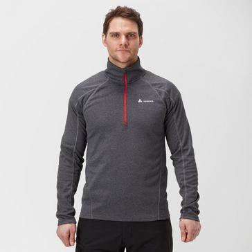 Grey|Grey Technicals Men's Performance Half-Zip Baselayer