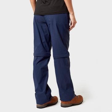 Navy Brasher Brasher Women's Zip-Off Stretch Trousers