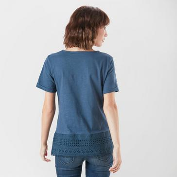 NAVY One Earth Women's Embroidered Tee