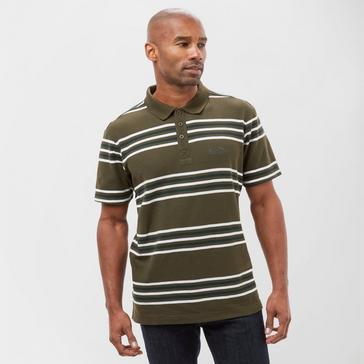 GREEN Peter Storm Men's Striped Polo Shirt