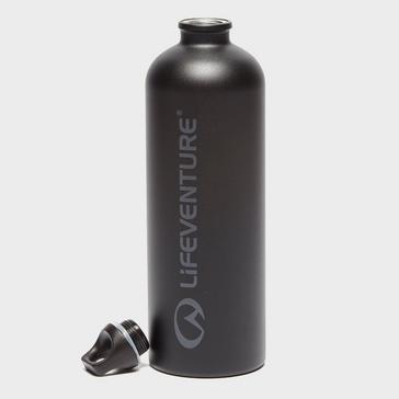Black LIFEVENTURE Stainless Steel 1L Bottle