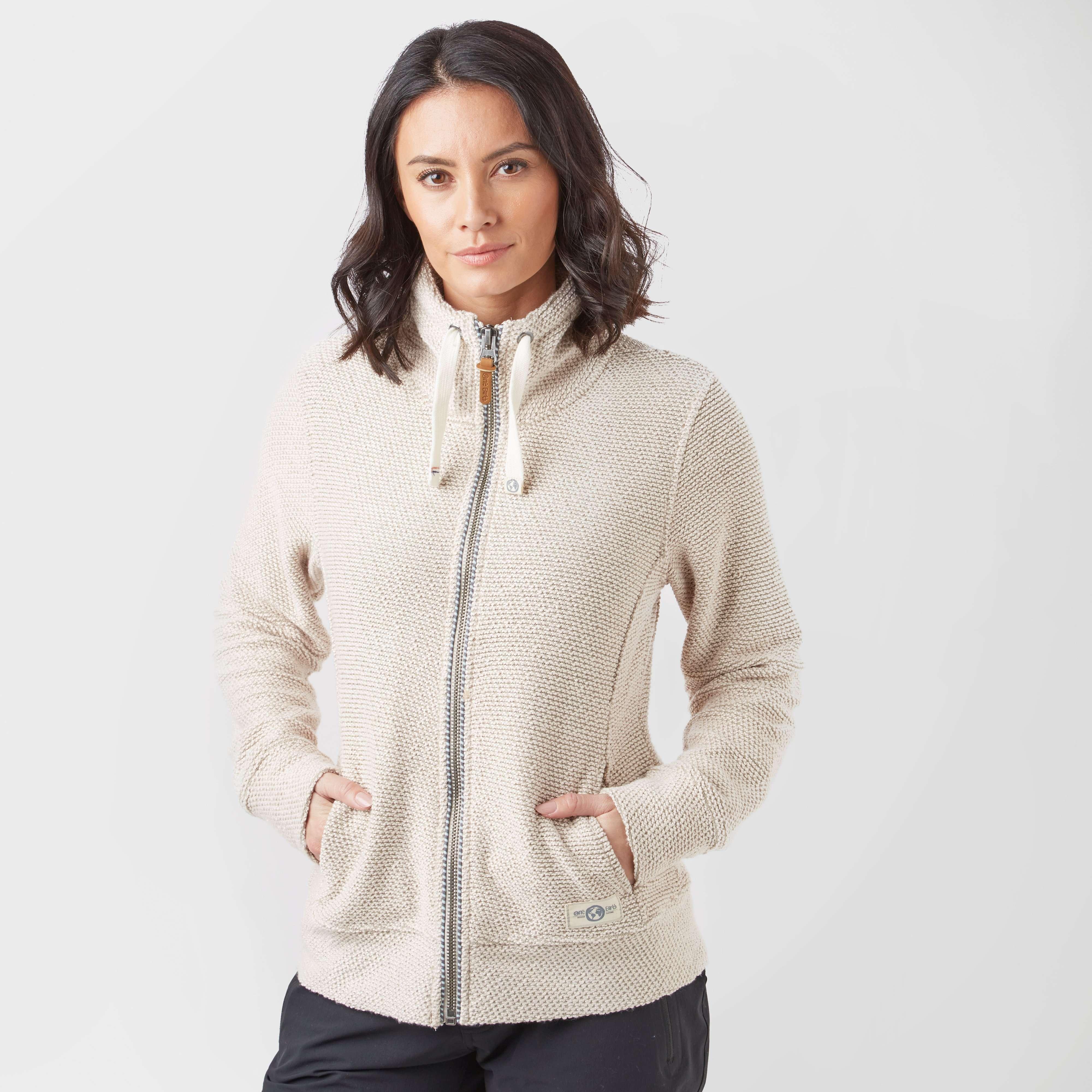 ONE EARTH Women's Full-Zip Textured Top