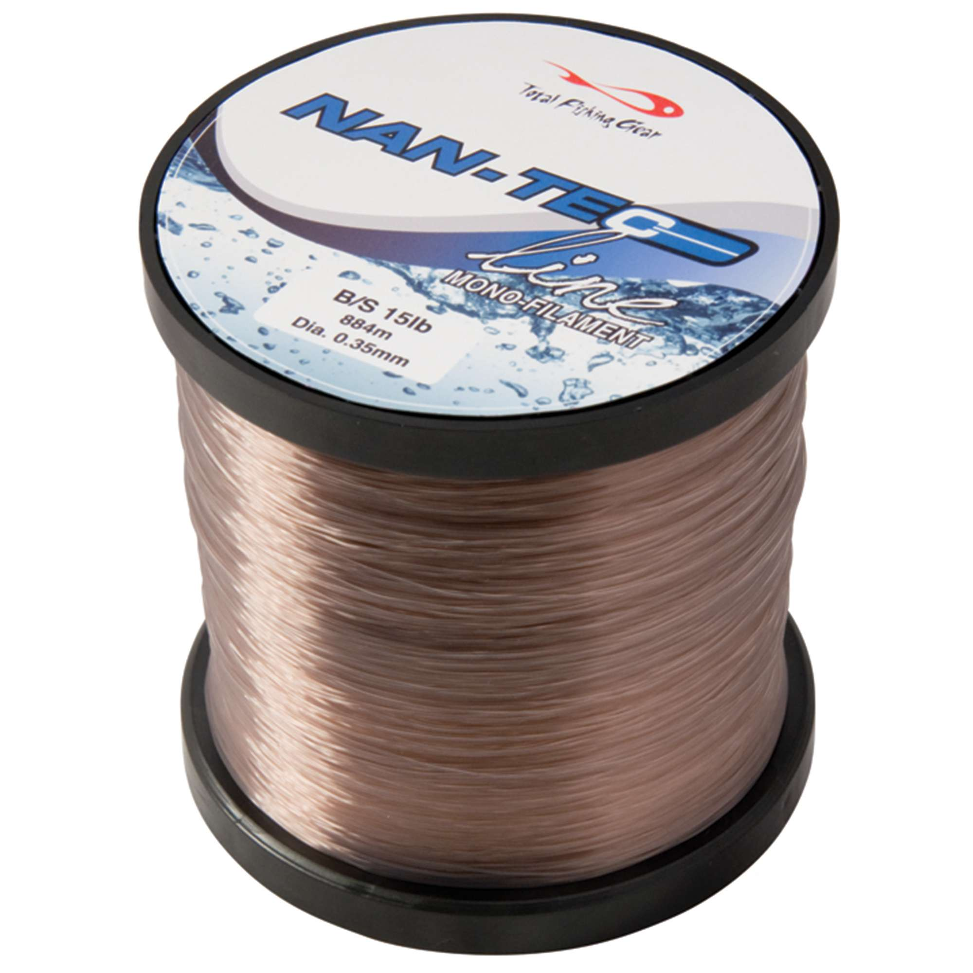TFG NanTec Clear Monofilament Fishing Line, 15lb