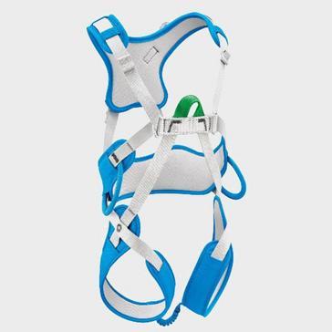 BLUE Petzl Ouistiti Children's Climbing Harness