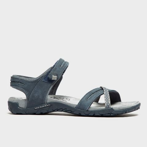 Dark Blue MERRELL Women's Terran Cross Sandals ...