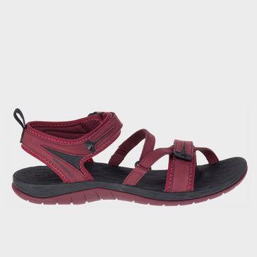 d61acf540bb7 Dark Red MERRELL Women s Siren Strap Q2 Sandal ...
