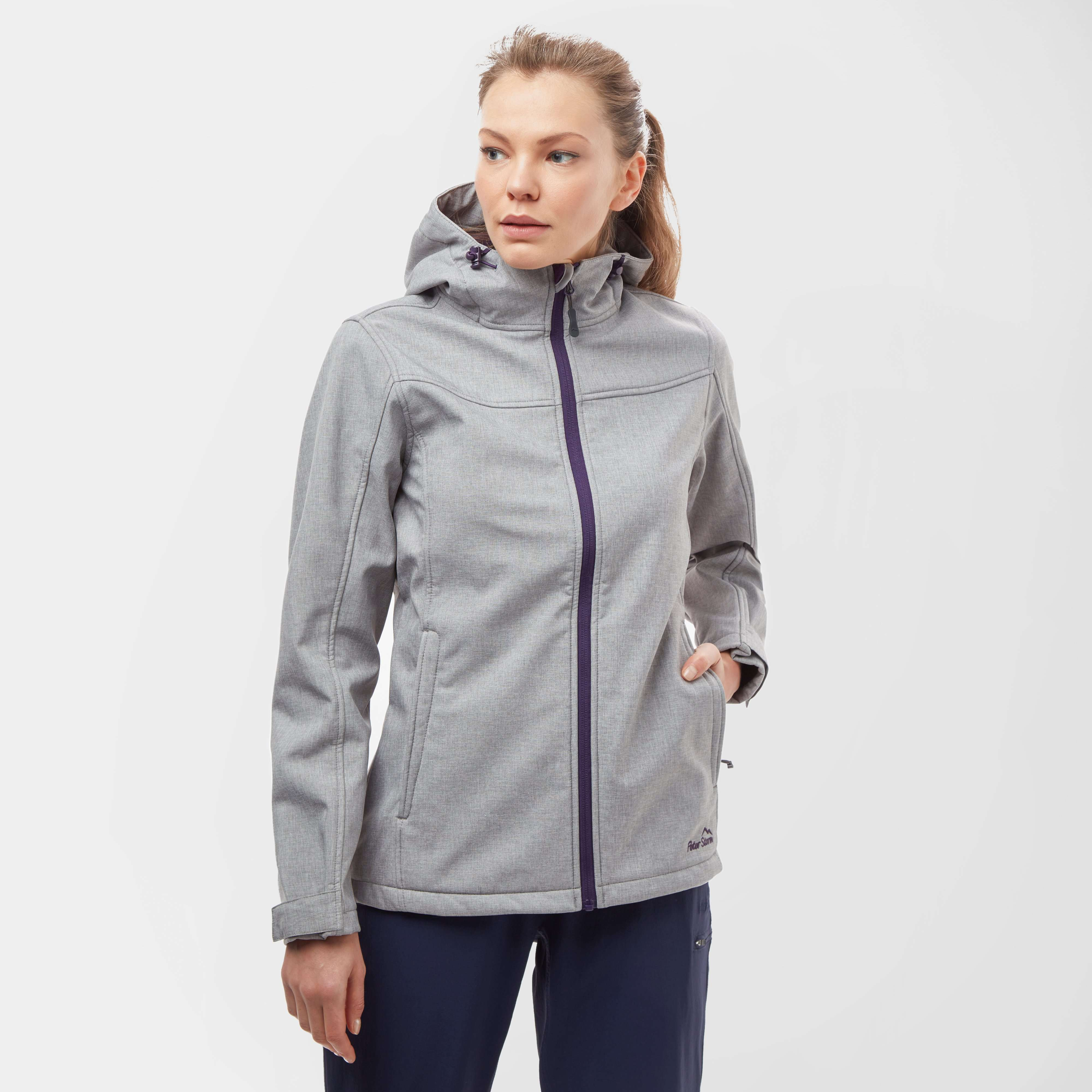 PETER STORM Women's Hooded Marl Softshell