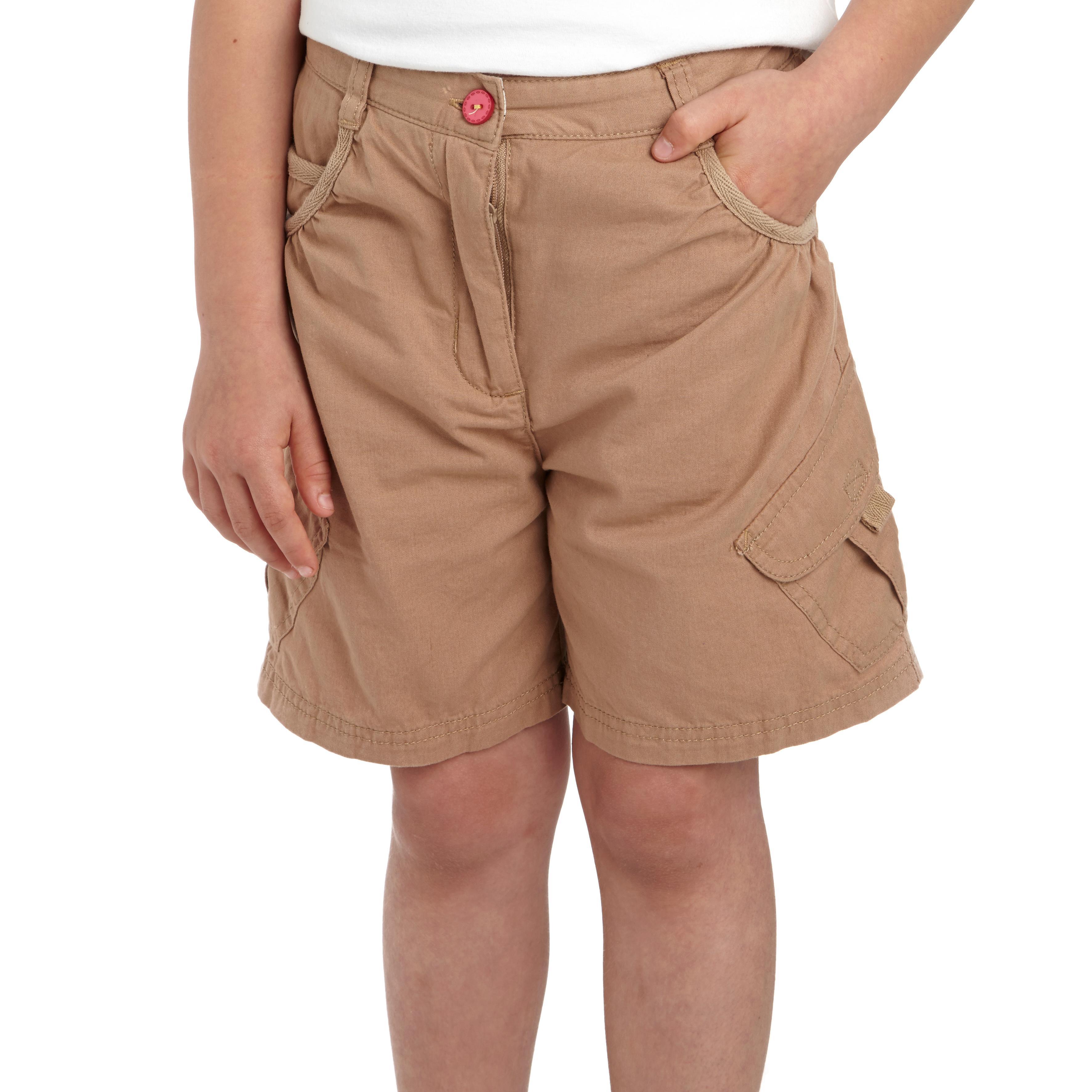 Regatta Moonshine Kids Coolweave Cotton Summer Shorts Pink