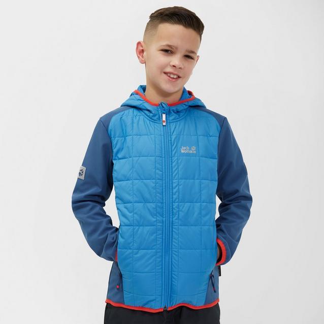 6ec06f39fb JACK WOLFSKIN Boy's Grassland Hybrid Jacket image 1