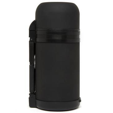 Black LIFEVENTURE Wide Mouth Vacuum Flask 1L