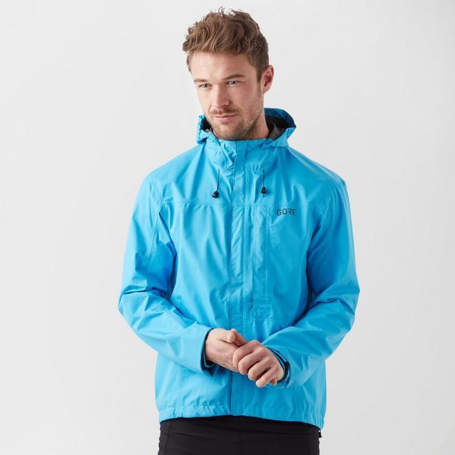 GORE Wear C3 Mens Hooded Jacket GORE-TEX L Blue