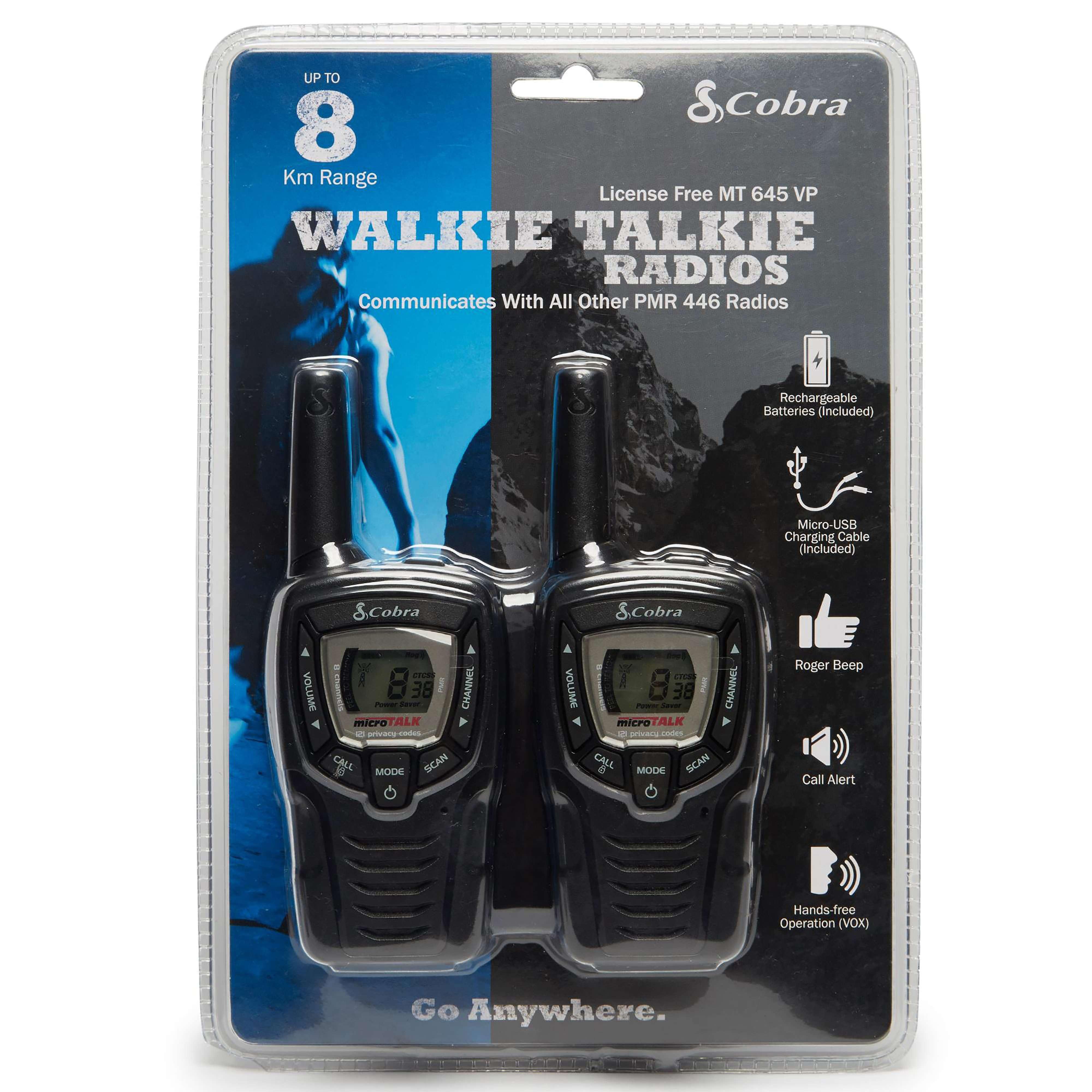 PAMA Cobra MT645 Walkie Talkie Radio Twin Pack