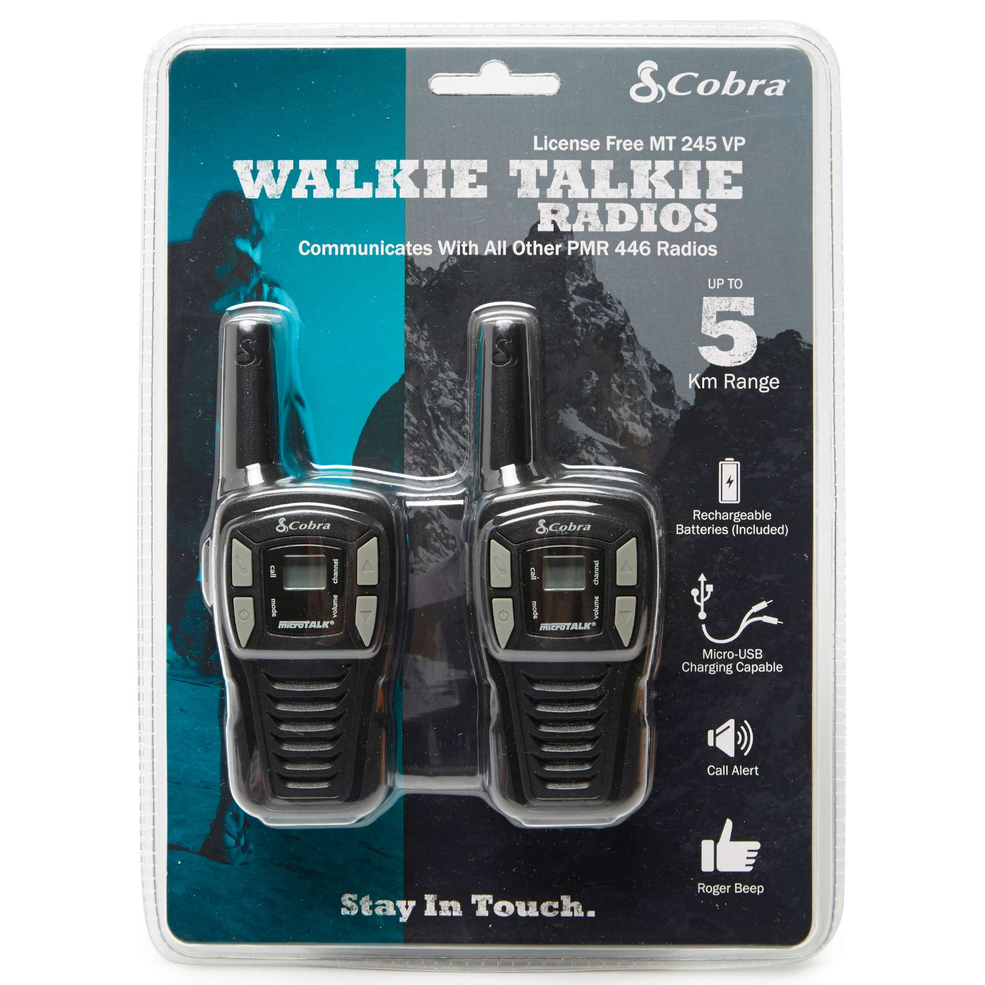 PAMA Cobra MT245 Walkie Talkie Twin Pack