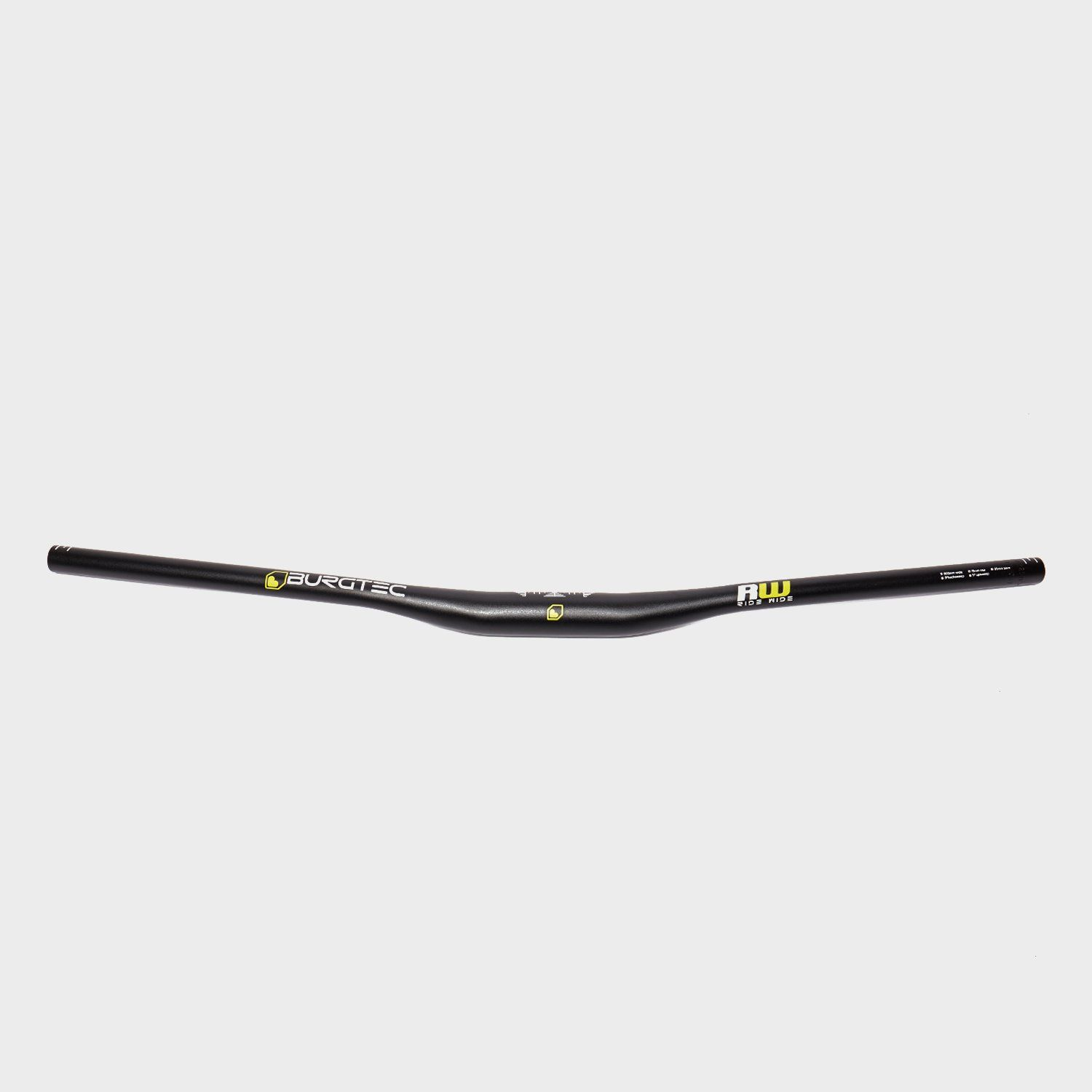 BURGTEC Burgtec Ride Wide Alloy Bars 15mm Rise 800mm Wide 35mm Clamp