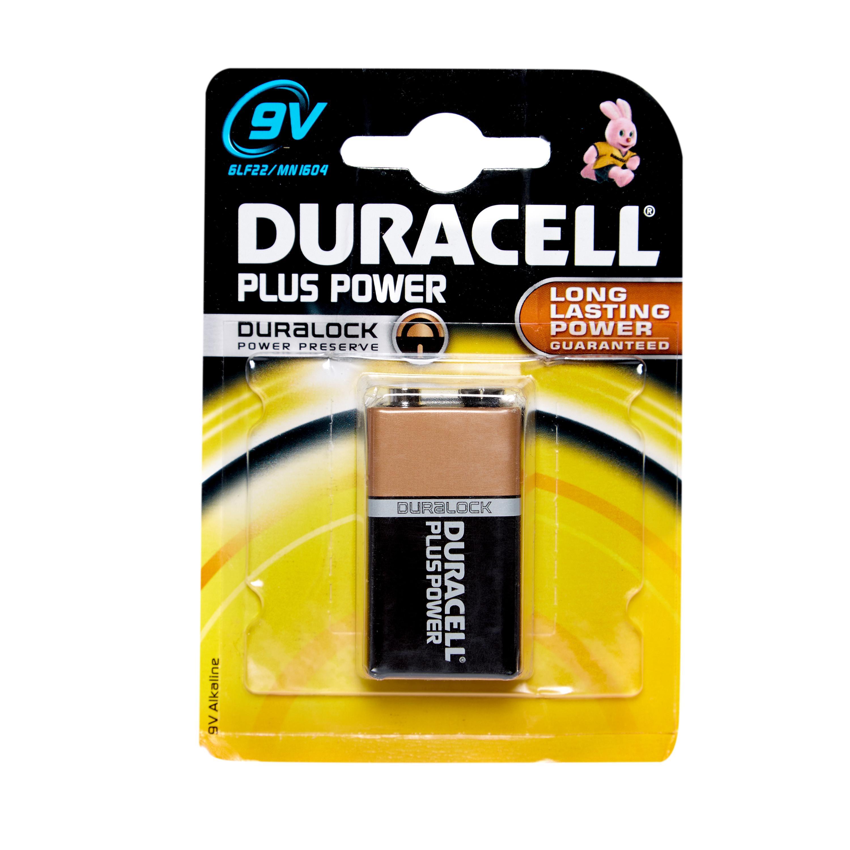 Duracell Plus Power MN1604 9V Battery, Multi/B1