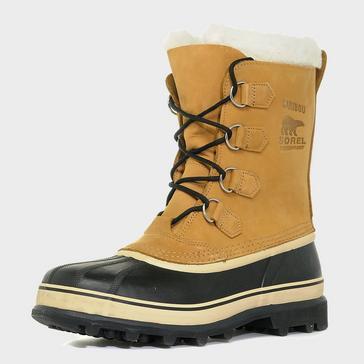 Beige Sorel Men's Caribou Snow Boot