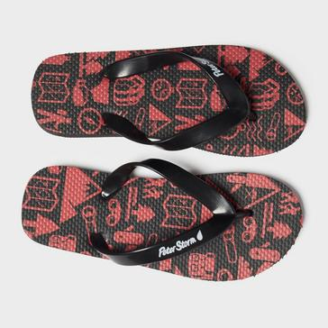 Red Peter Storm Boys' Compass Flip Flops