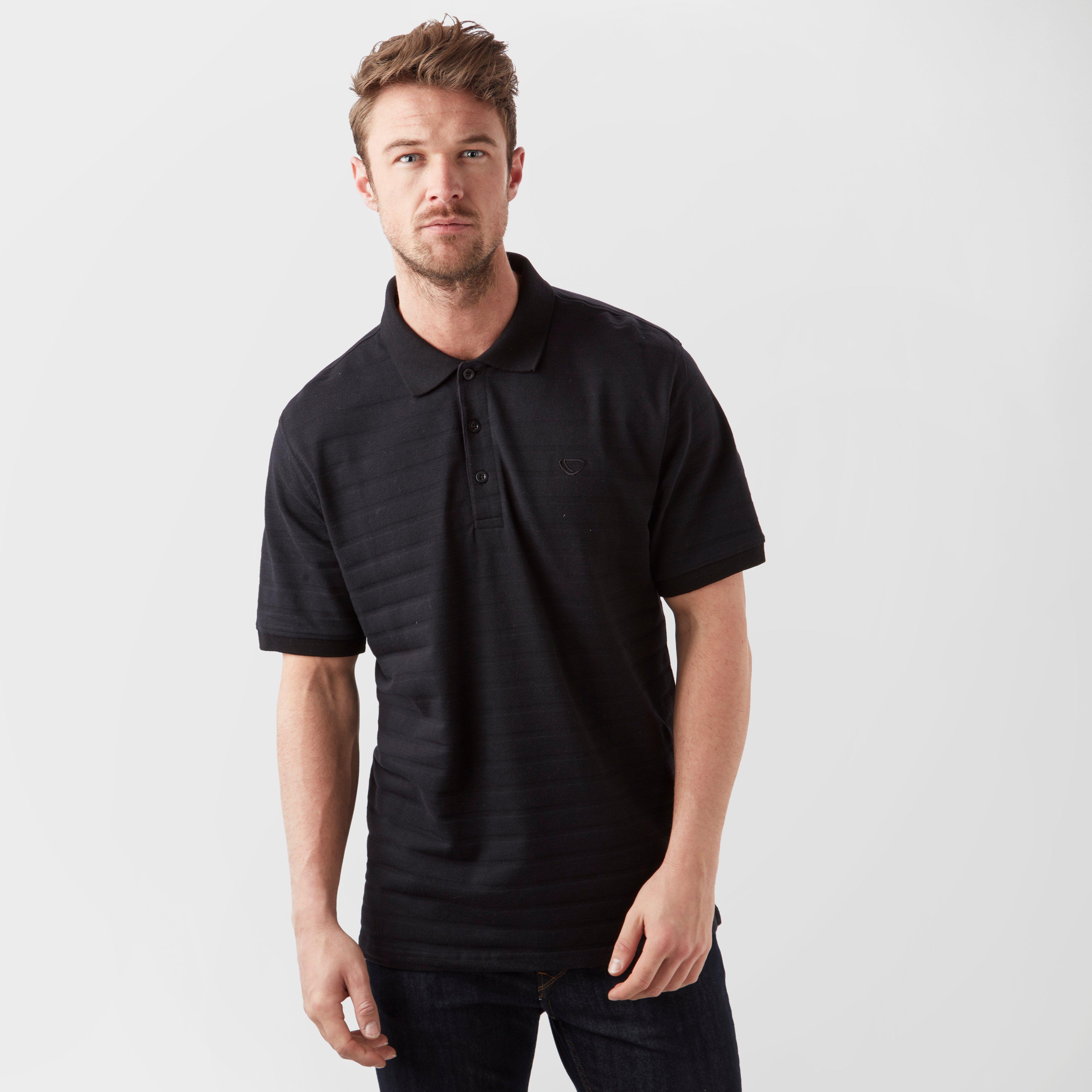 Brasher Brasher Mens Polo Shirt - Black, Black