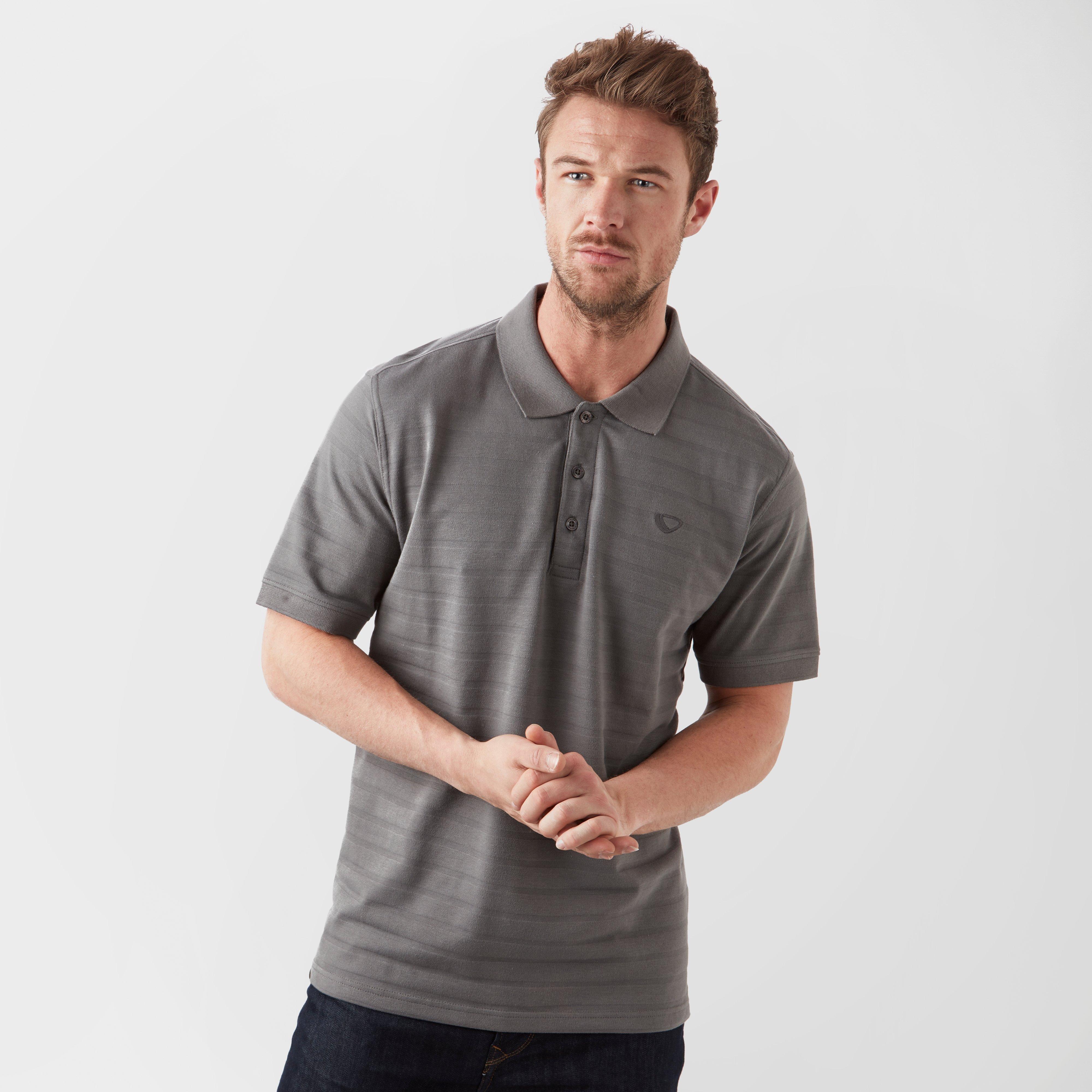Brasher Men's Polo Shirt - Grey/Mgy, Grey
