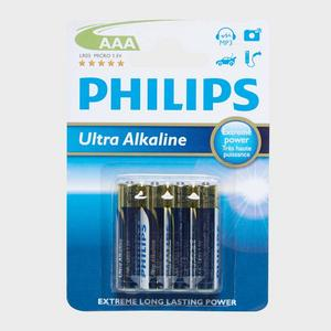 PHILLIPS Ultra Alkaline AAA LR03 Batteries 4 Pack