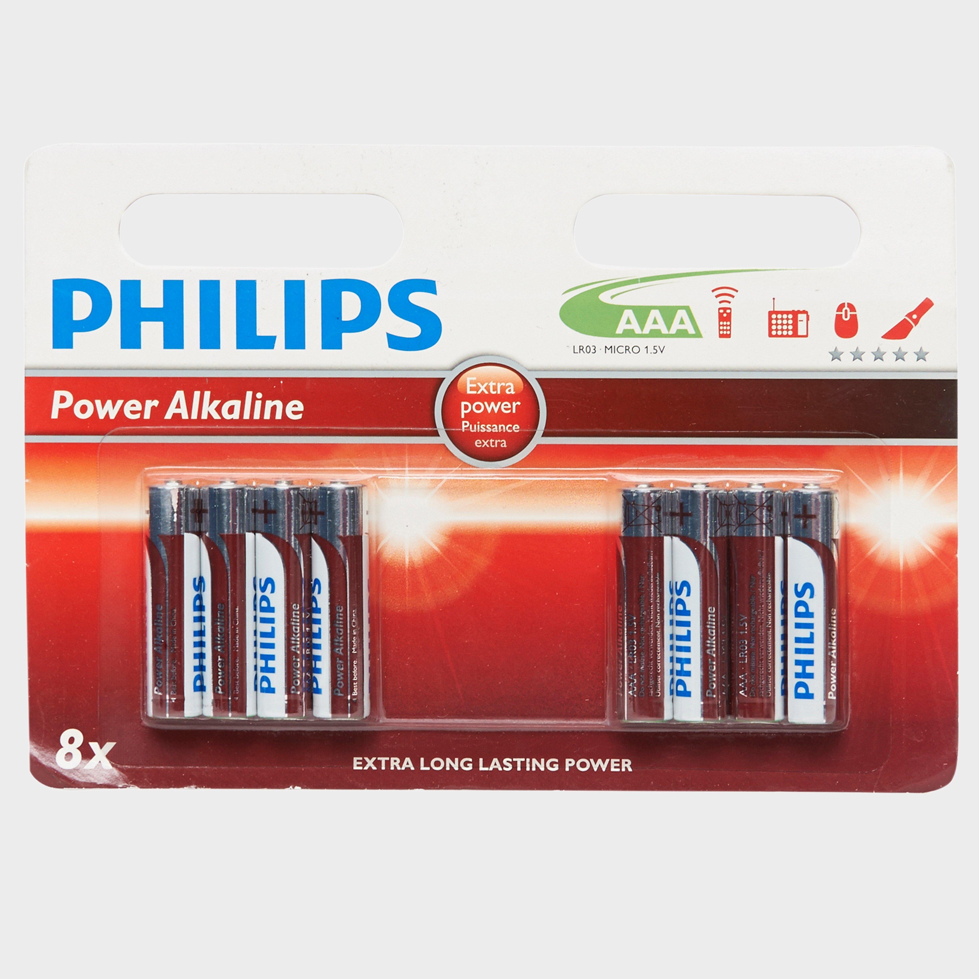 Phillips PowerLife AAA LR03 B4+4 Alkaline Batteries, Multi