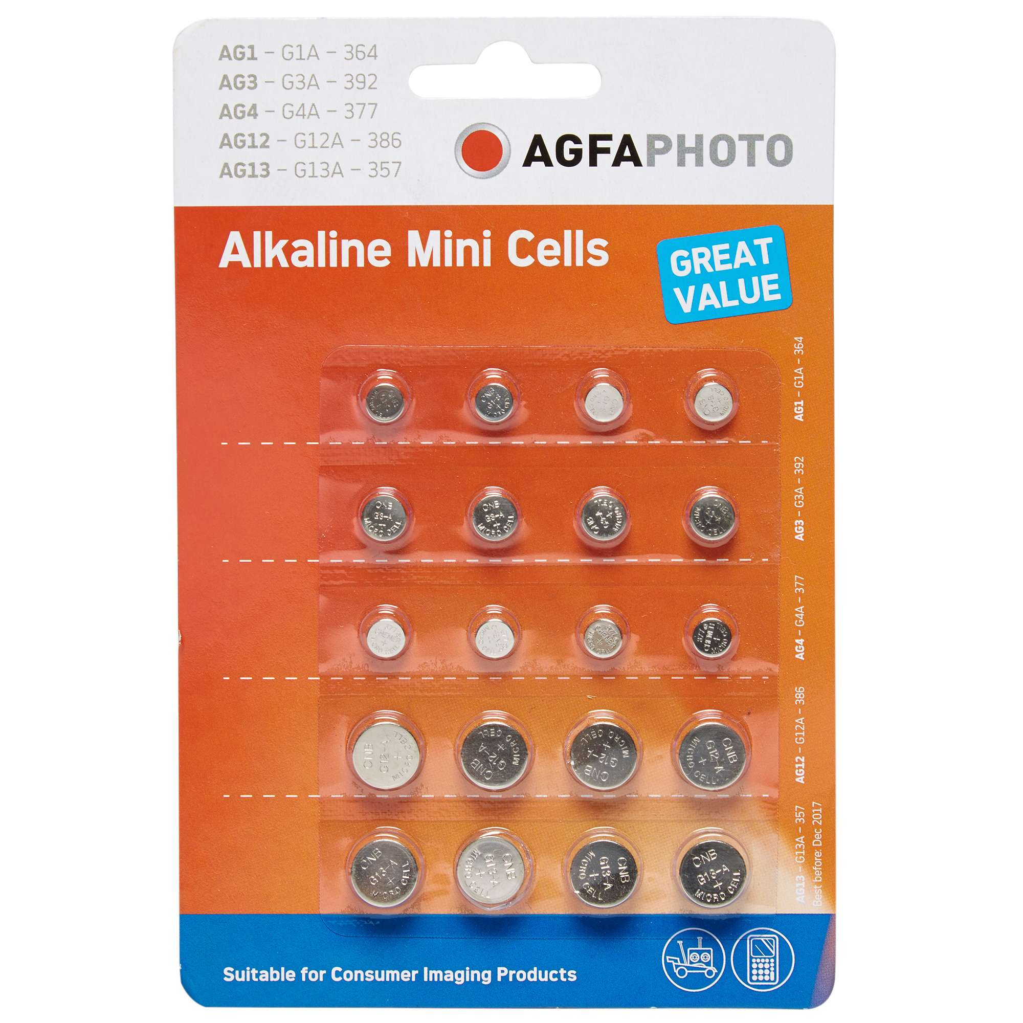 AGFA Watch Battery 20 Pack