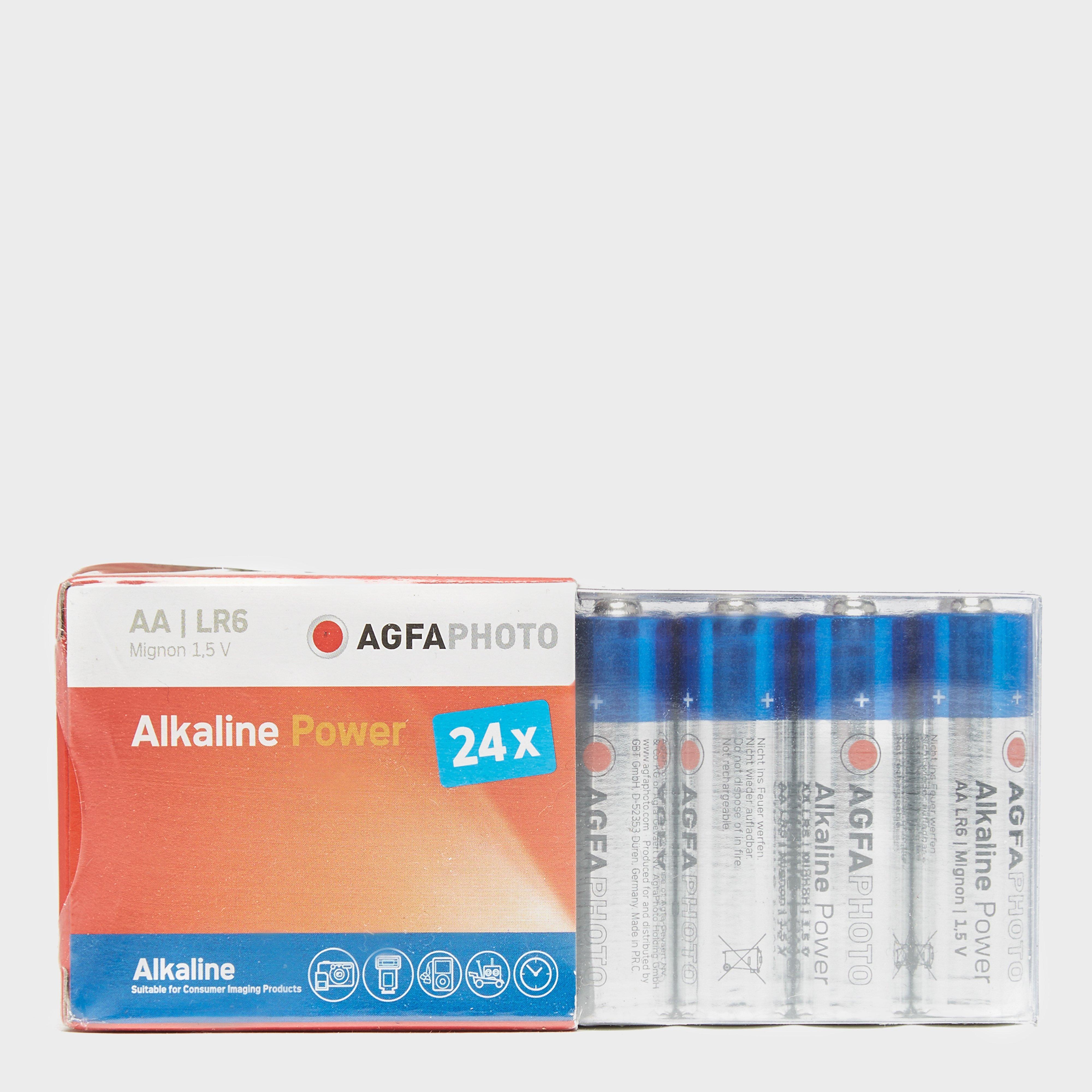 AGFA Alkaline Power AA Batteries 24 Pack, Multi