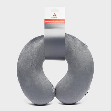 Mid Grey Technicals Memory Foam Travel Pillow