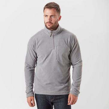 Mid Grey Brasher Men's Bleaberry II Half-Zip Fleece