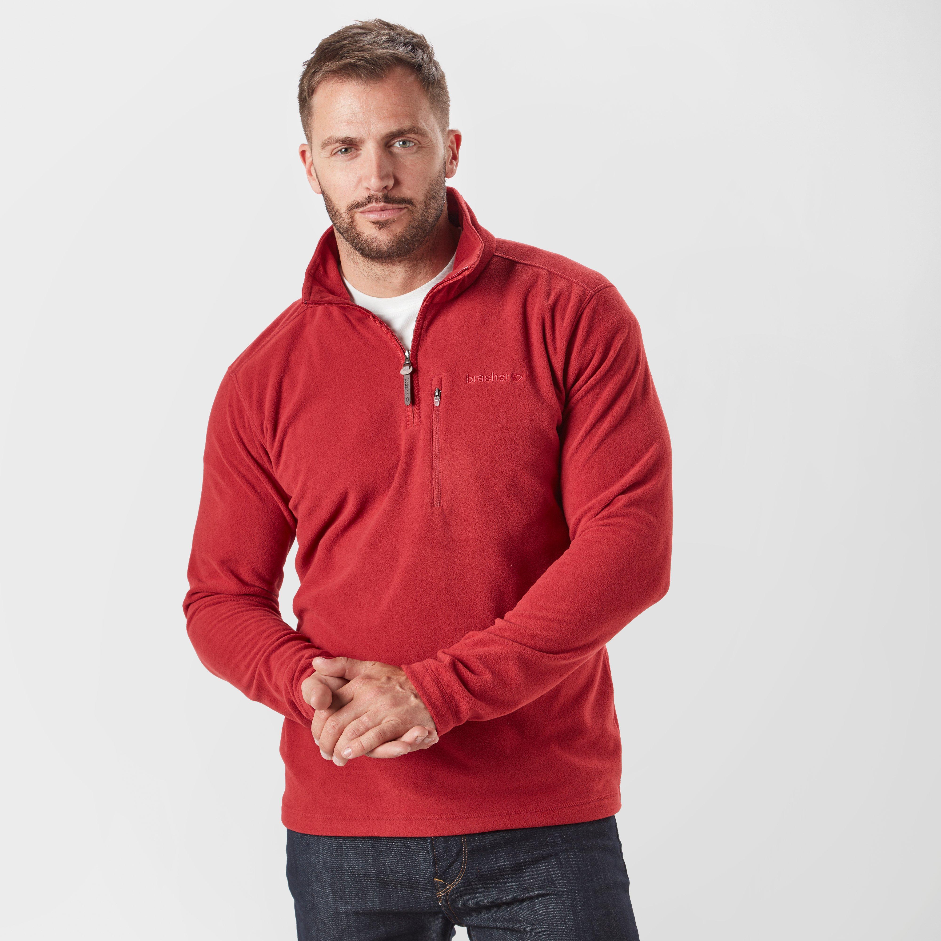Brasher Brasher Mens Bleaberry II Half Zip Fleece - Red, Red