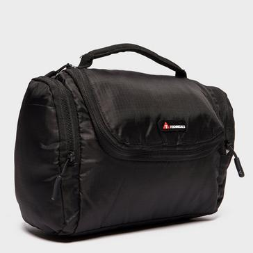 Black Technicals Travel Wash Bag