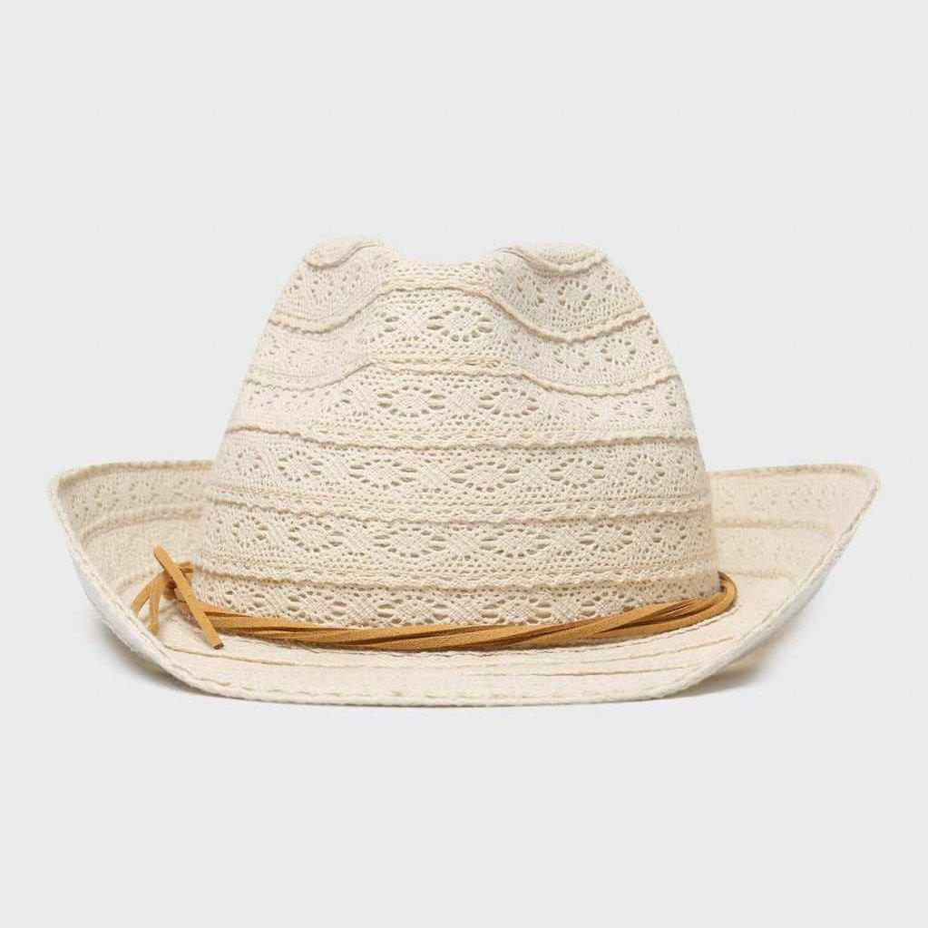 One Earth One Earth Womens Lace Trilby - Beige, Beige