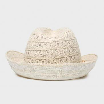 Beige One Earth Women's Lazer Cut Hat