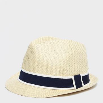 Beige Peter Storm Men's Straw Trilby Hat