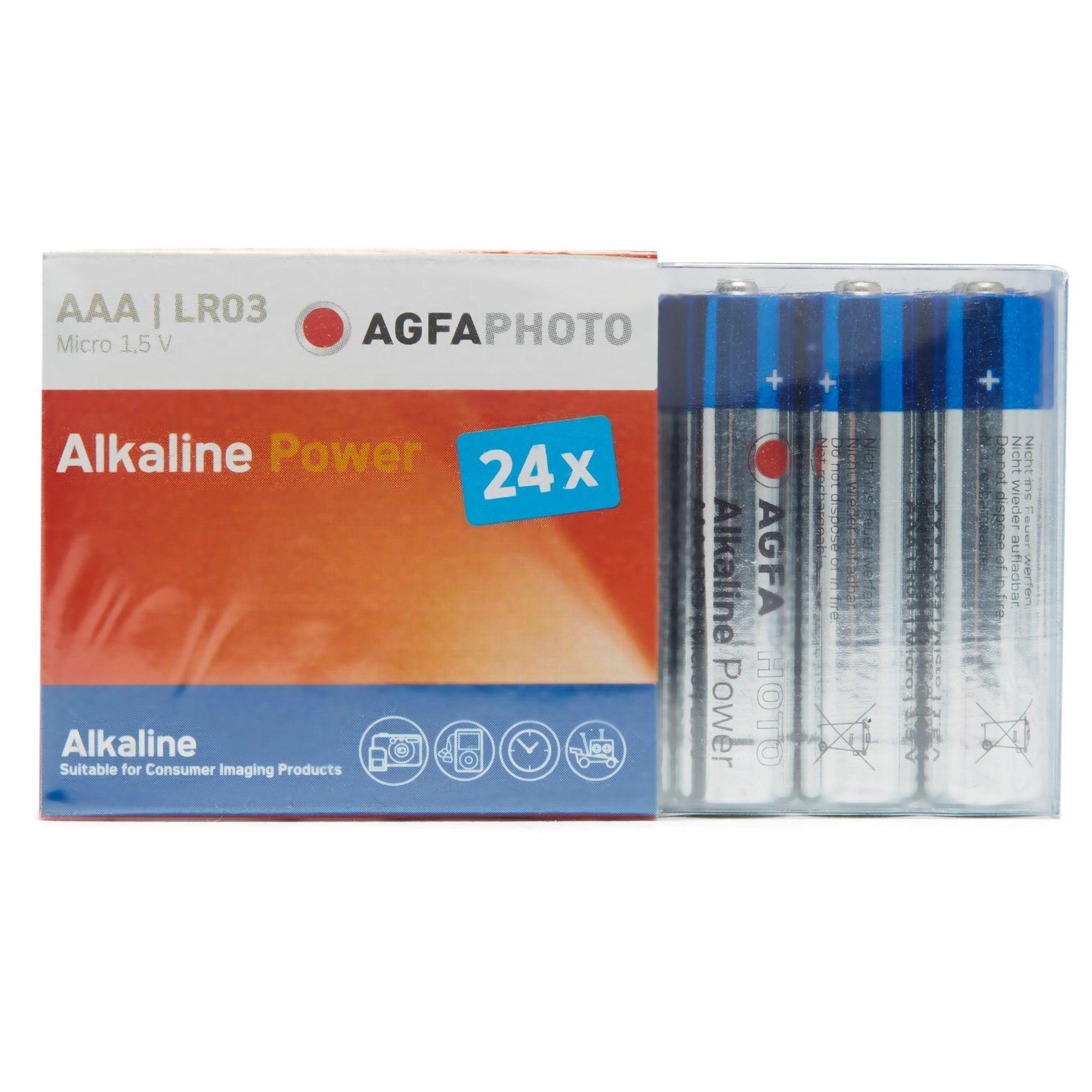 AGFA Alkaline Power AAA LR03 Batteries 24 Pack