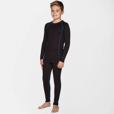 Black Alpine Kids' Thermal Underwear Set