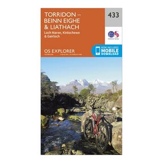 Explorer 433 Torridon – Beinn Eighe & Liatach Map With Digital Version