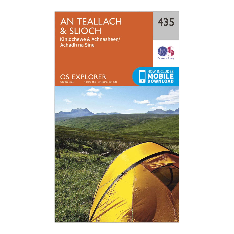 ORDNANCE SURVEY Explorer 435 An Teallach & Slioch Map With Digital Version
