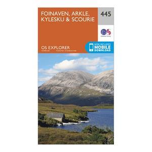 ORDNANCE SURVEY Explorer 445 Foinaven, Arkle, Kylesku & Scourie Map With Digital Version