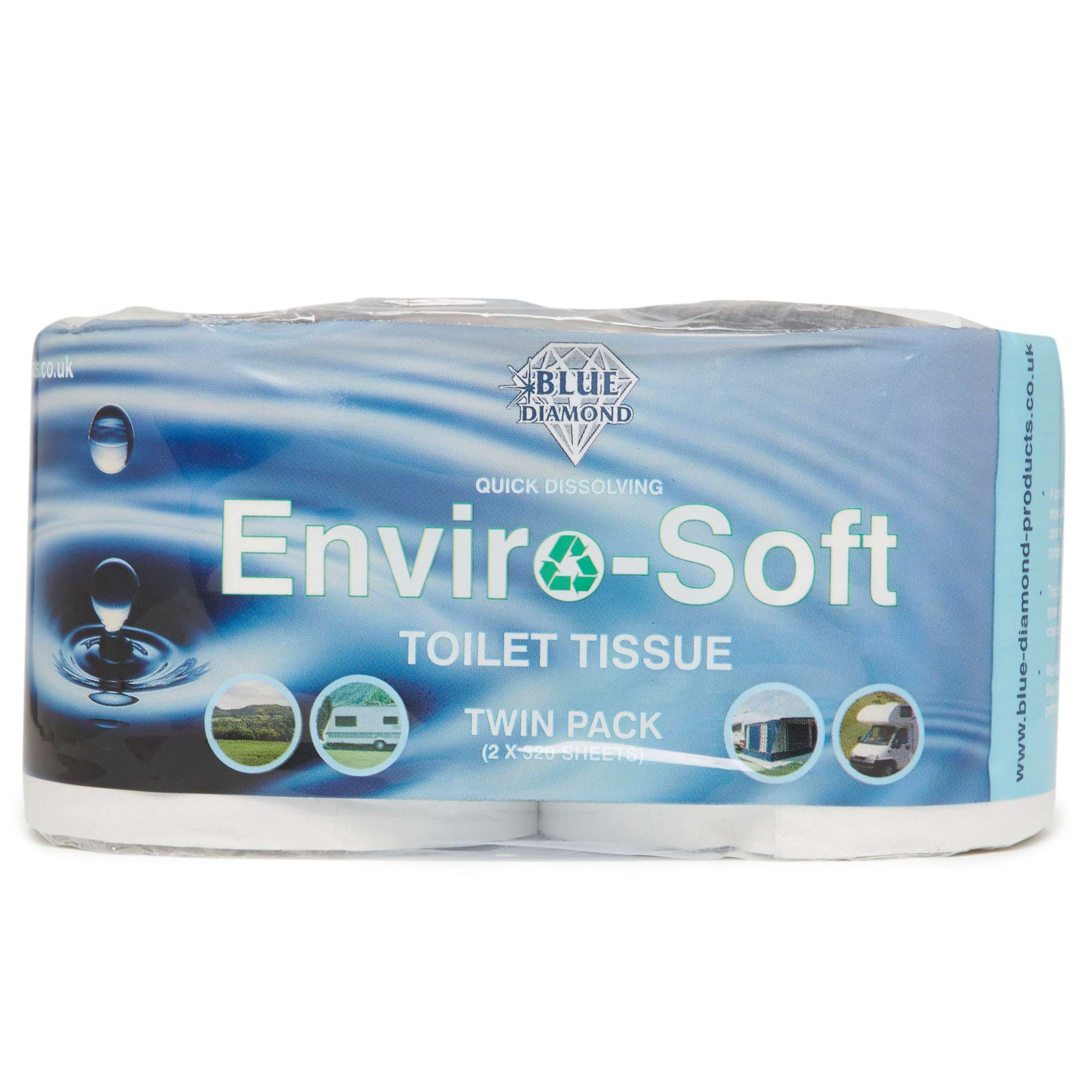 BLUE DIAMOND Enviro-Soft Toilet Roll Twin Pack